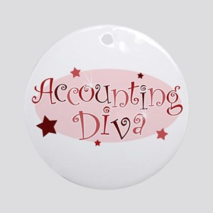 """Accounting Diva"" [red] Ornament (Round)"